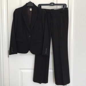 J. Crew Petite Wool Crepe Pant Suit Size 0P, 2P